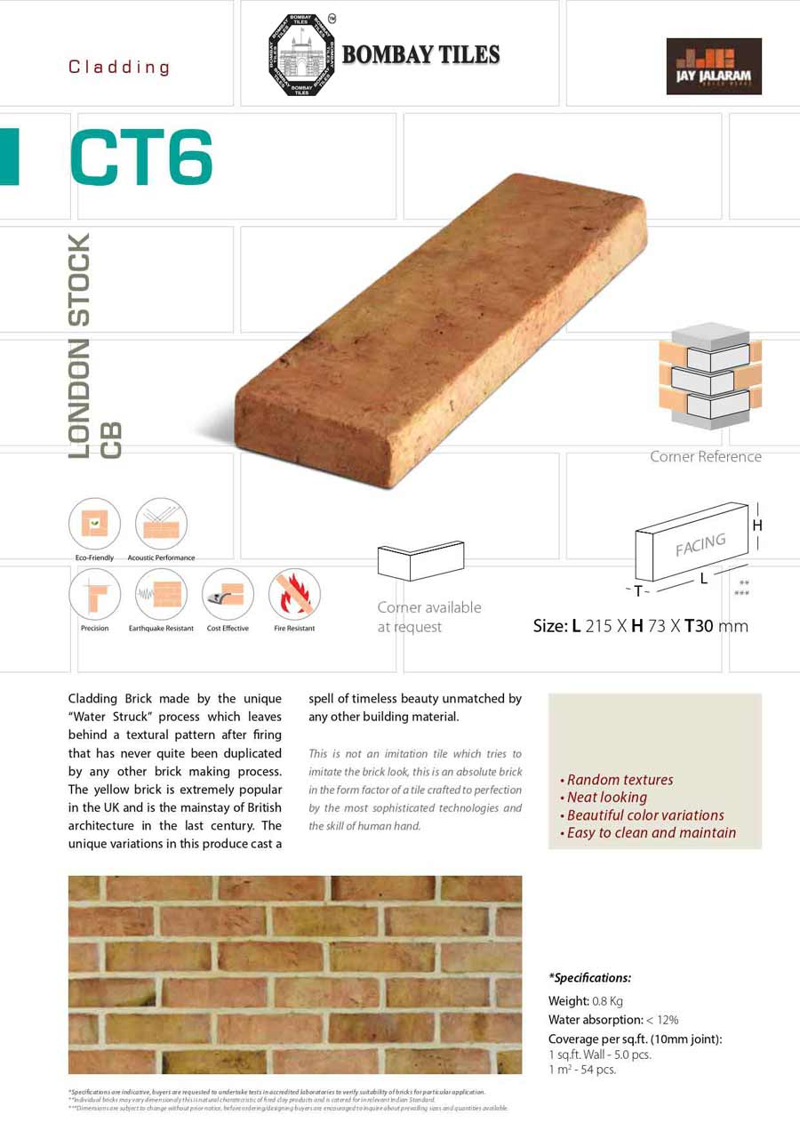 CT6 – London Stock Cladding Brick | Rustic Tiles in Pune